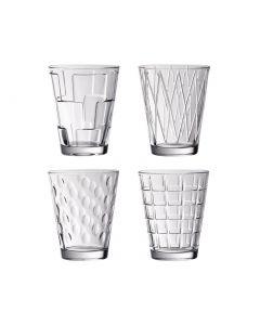 V&B Dressed Up Wasserglas clear Set 4tlg