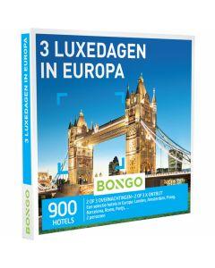 Belevenisbon 3 luxedagen in Europa